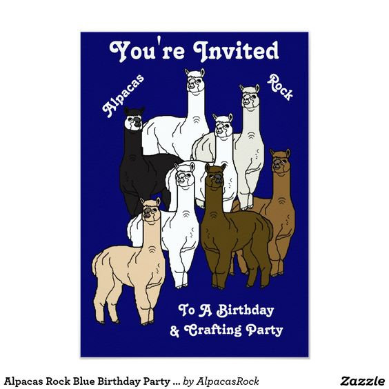 Alpacas Rock Birthday Party & Home Decor Products