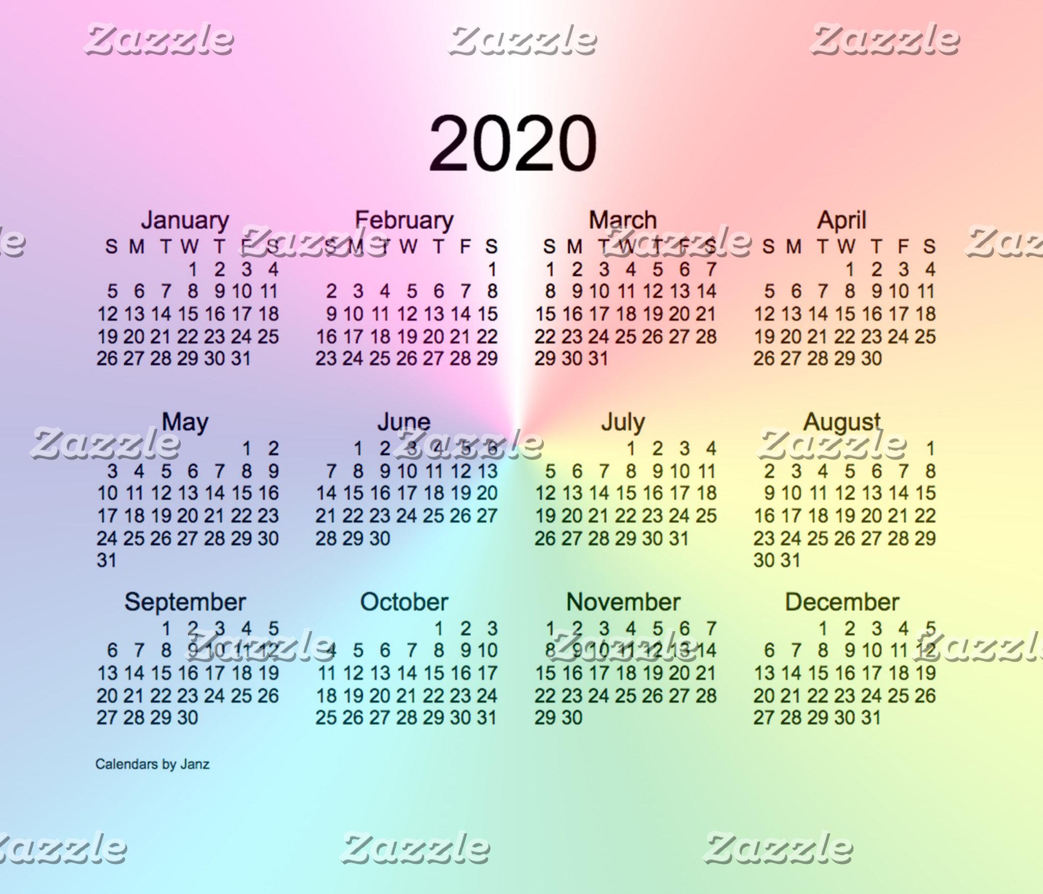 2020 Calendars by Janz