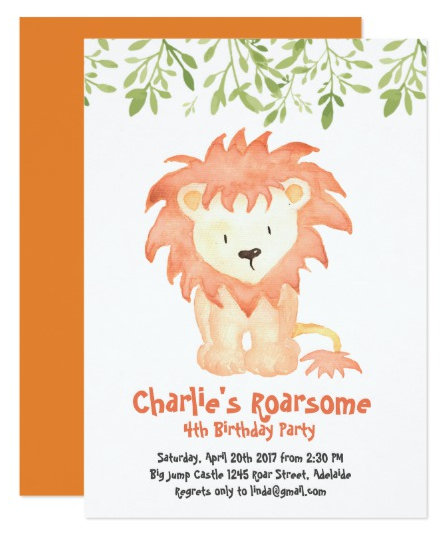 Boy's Birthday Party Invitations