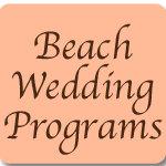 Beach Wedding Programs