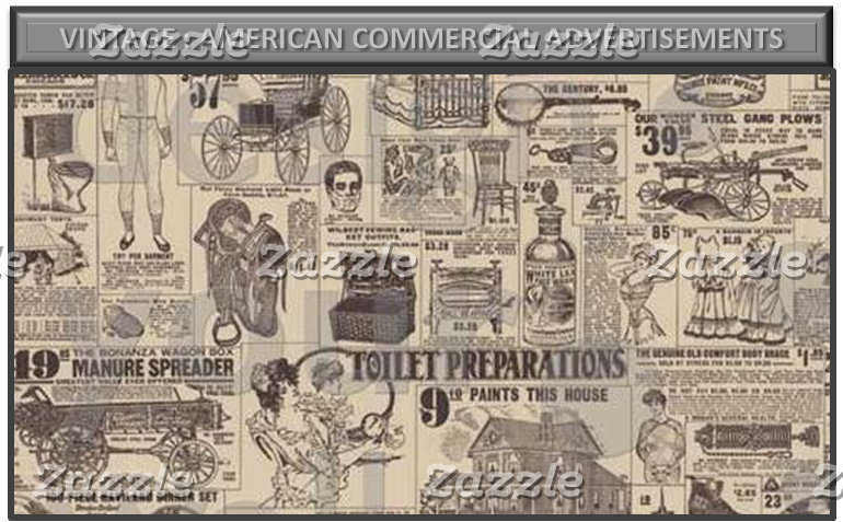 Vintage : American commercial advertisements