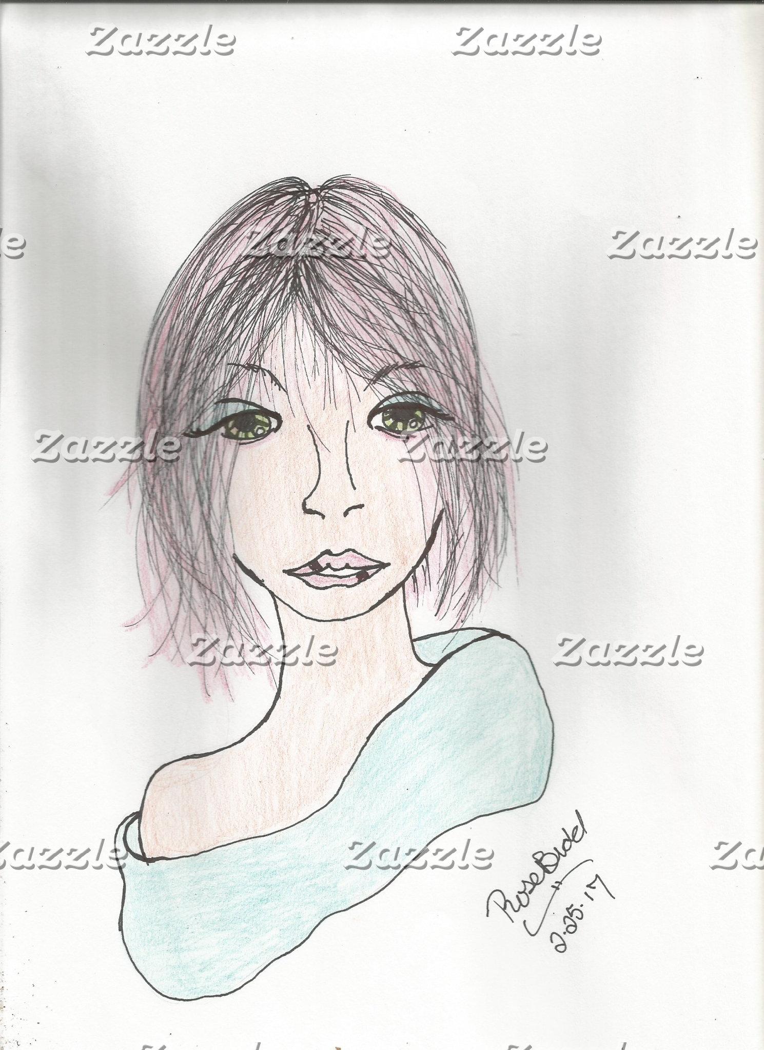 women with big sad eyes
