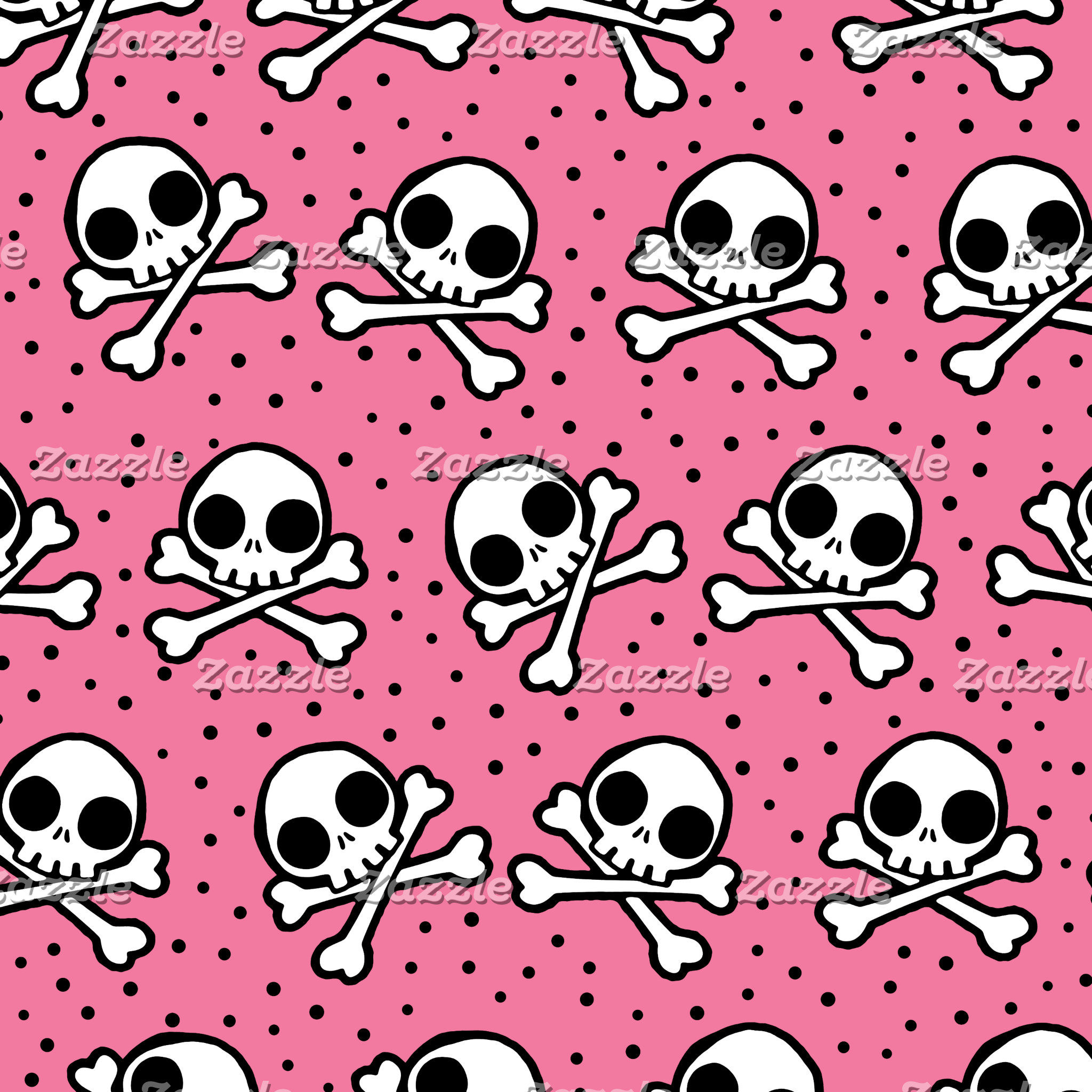 Cute Pink Skull And Crossbones Pattern