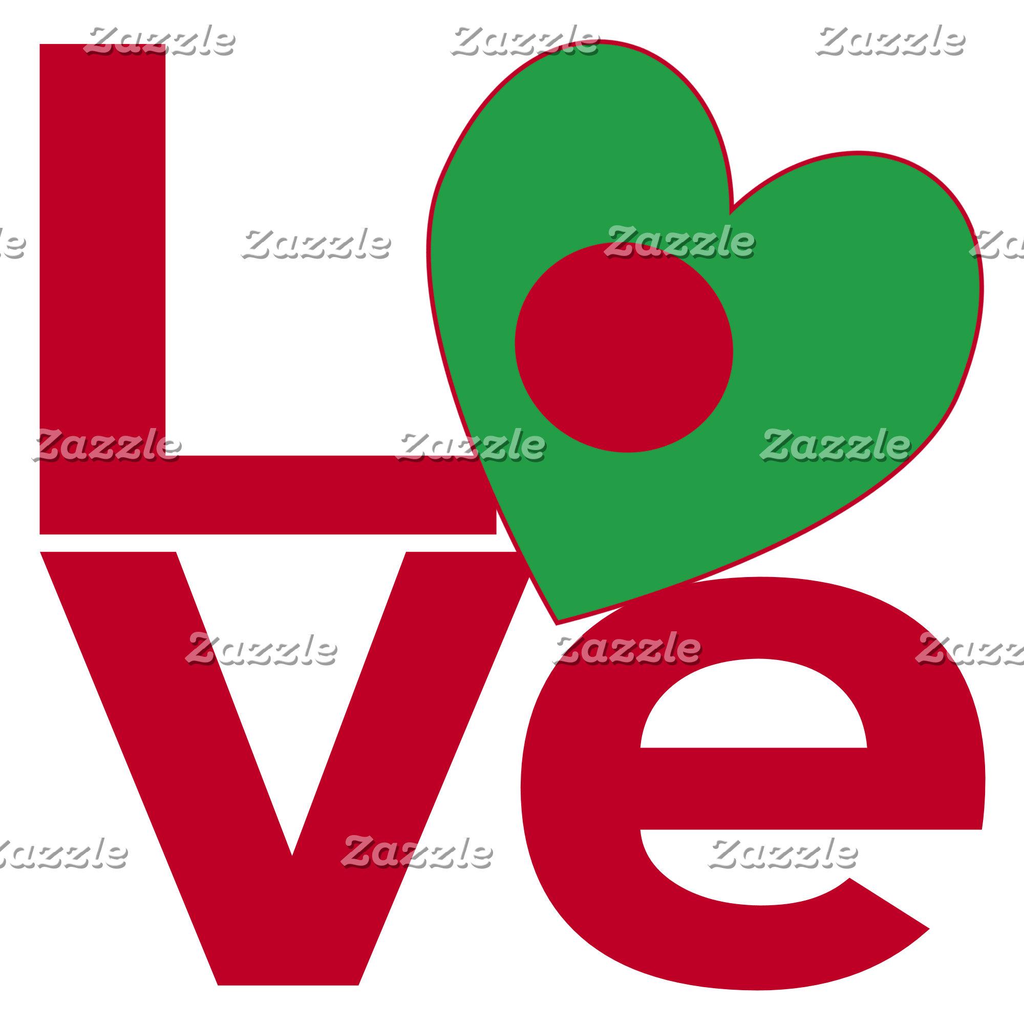 Bangladeshi Red LOVE Flag