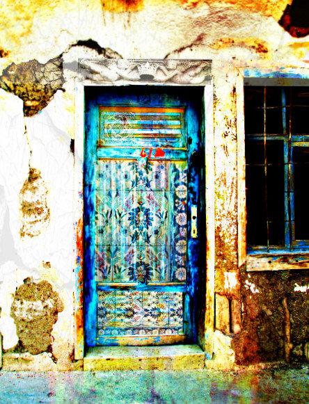 Traditional Greek Door