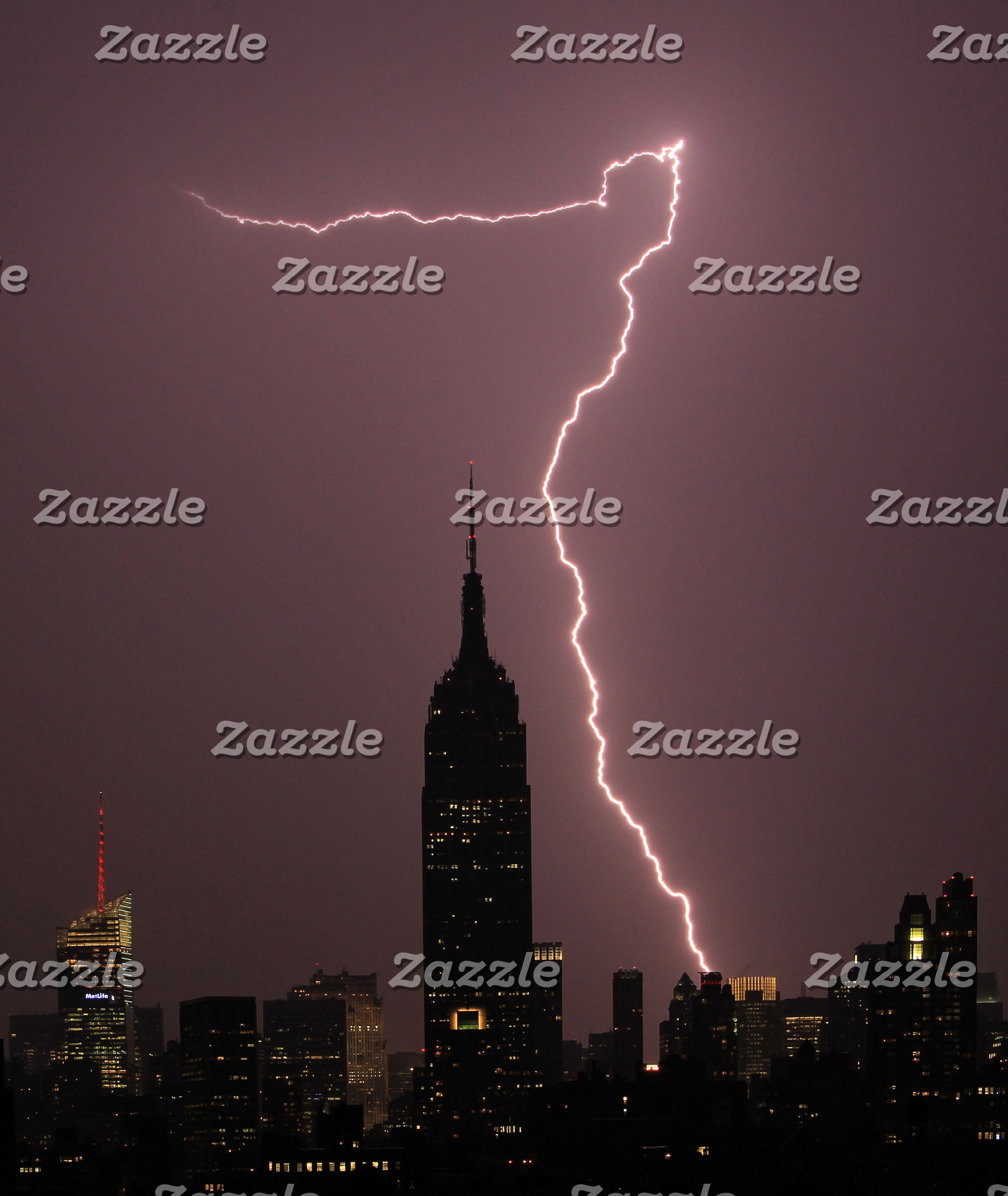 NYC Lightning Strikes, Rainbows