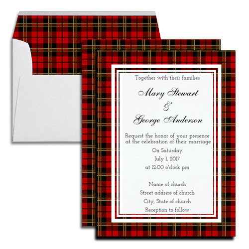 Brodie Red Tartan Wedding