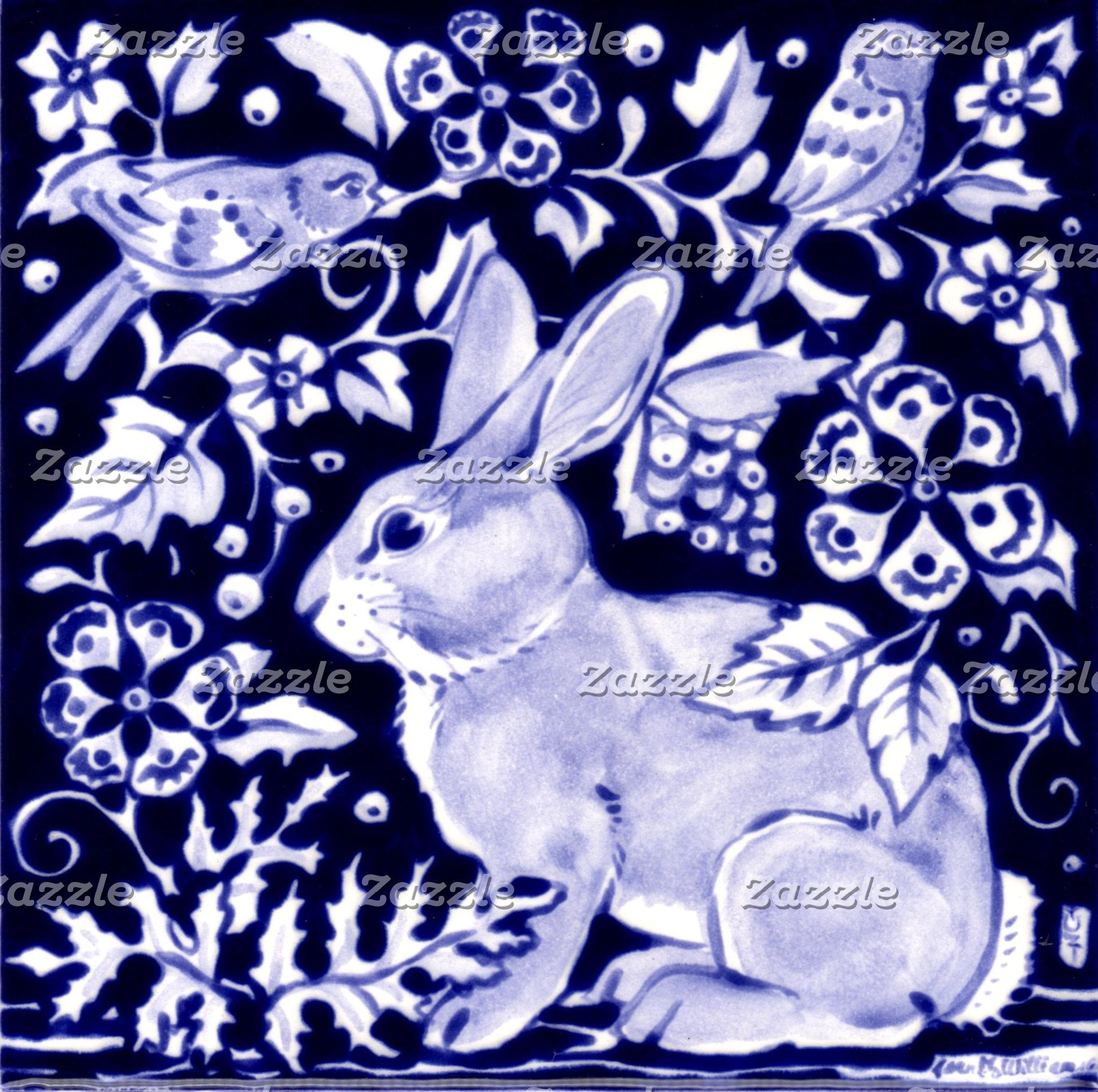 BLUE & WHITE RABBITS