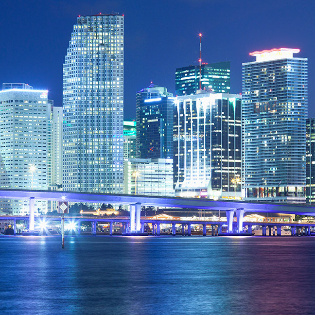 Downtown Skyline, Miami, Florida, USA