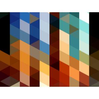 Geometric Patterns | Blue and Orange Triangles