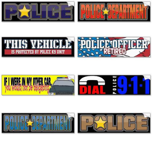Police Bumper Stickers