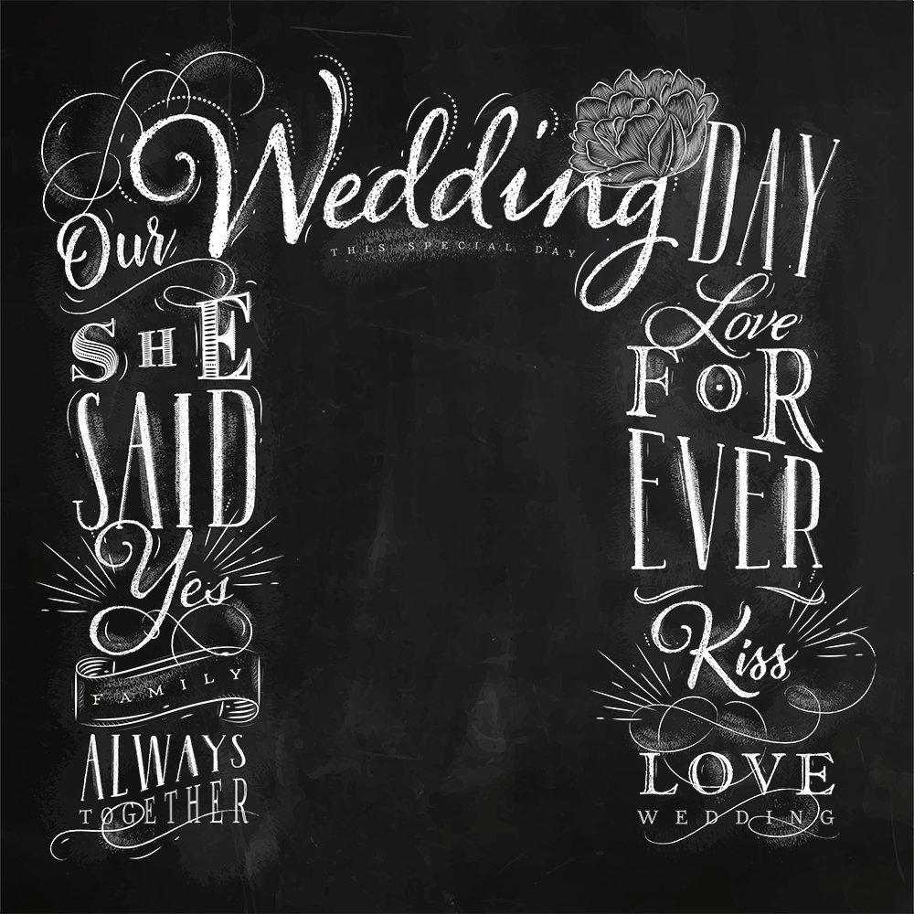 Chalkboard Wedding Frame