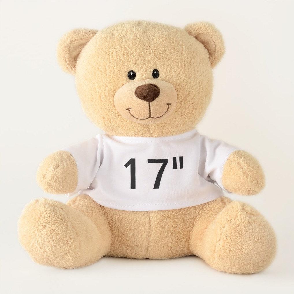 """17"""" Teddy Bears - Showing Favorite Script Fonts"""