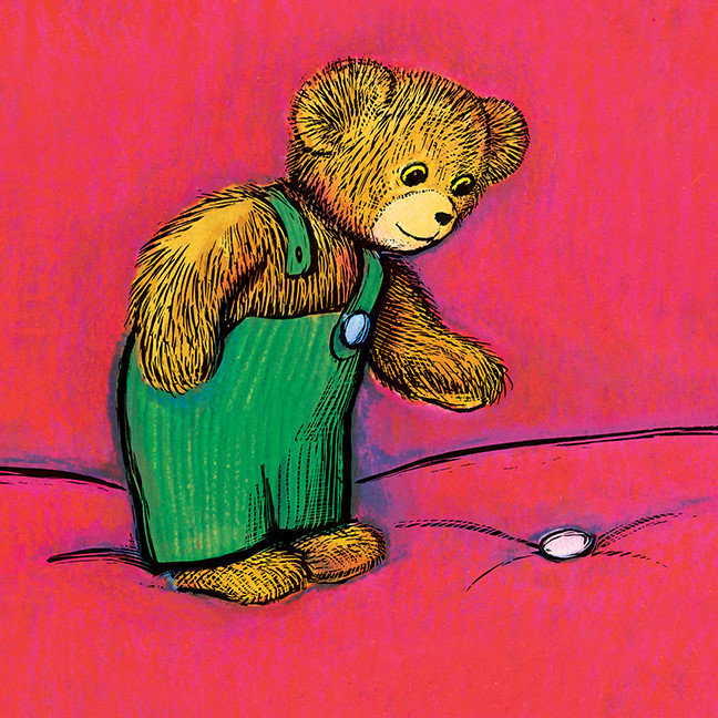 Corduroy Finds A Button