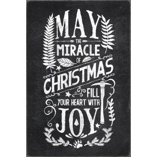 Christmas Miracle Chalkboard