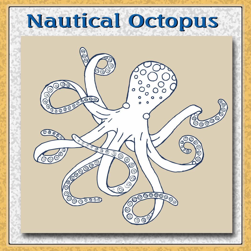 Sea Life Nautical Octopus