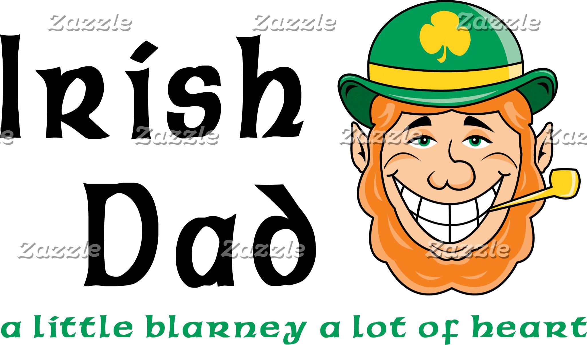 Irish Dad T-Shirt Gifts Cards