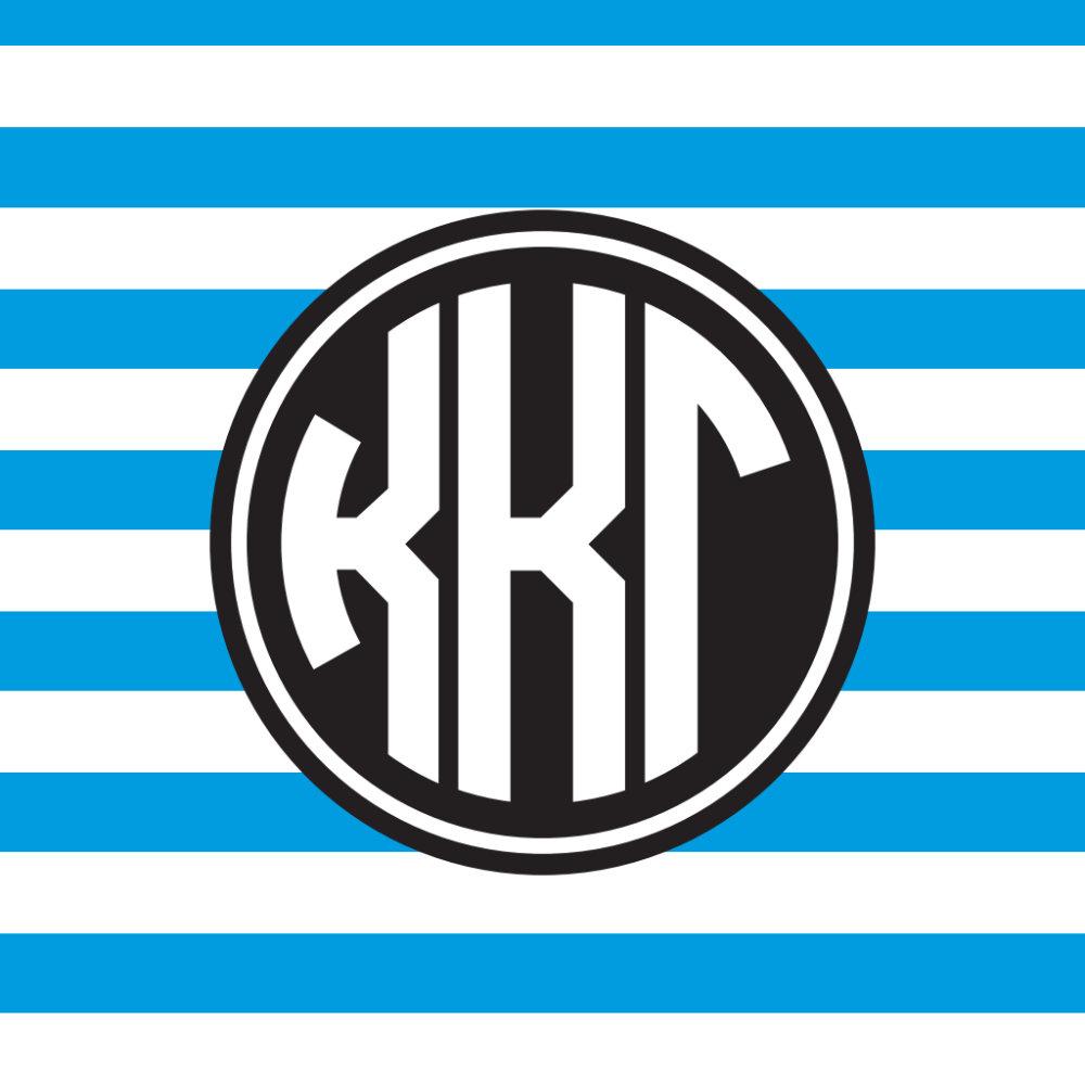 Monogram Stripe Pattern