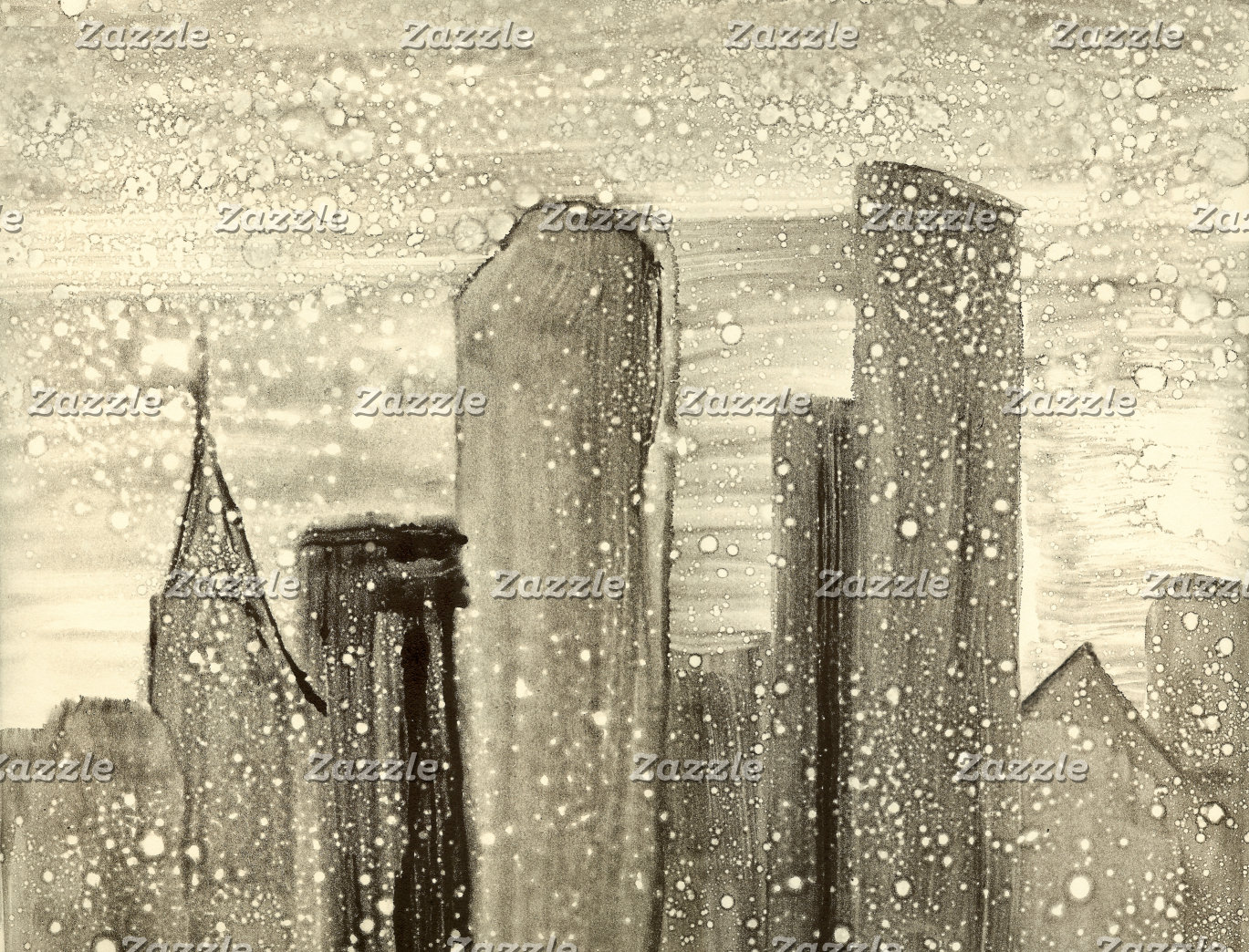 City Skyline Snow