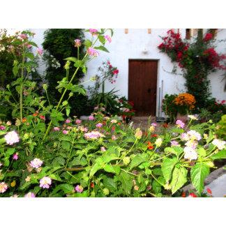 Beautiful Flower Garden in Crete, Greece