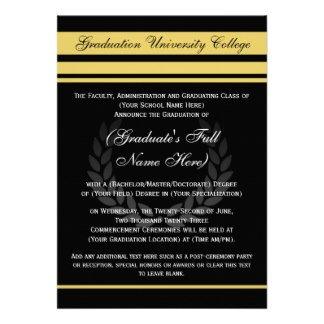 Graduation Announcements, Party Invitations