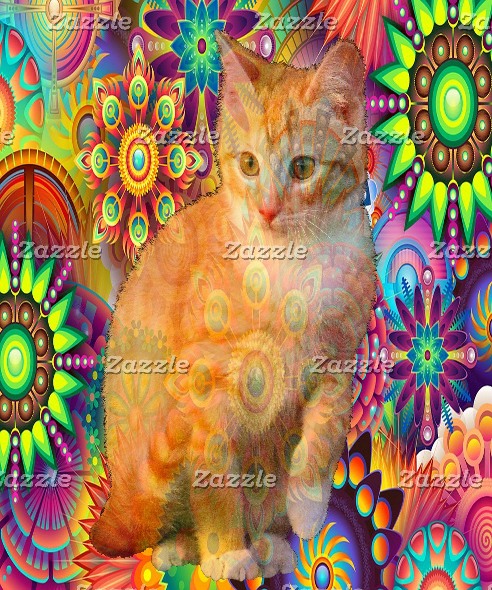 Psychedelic Cat Gifts