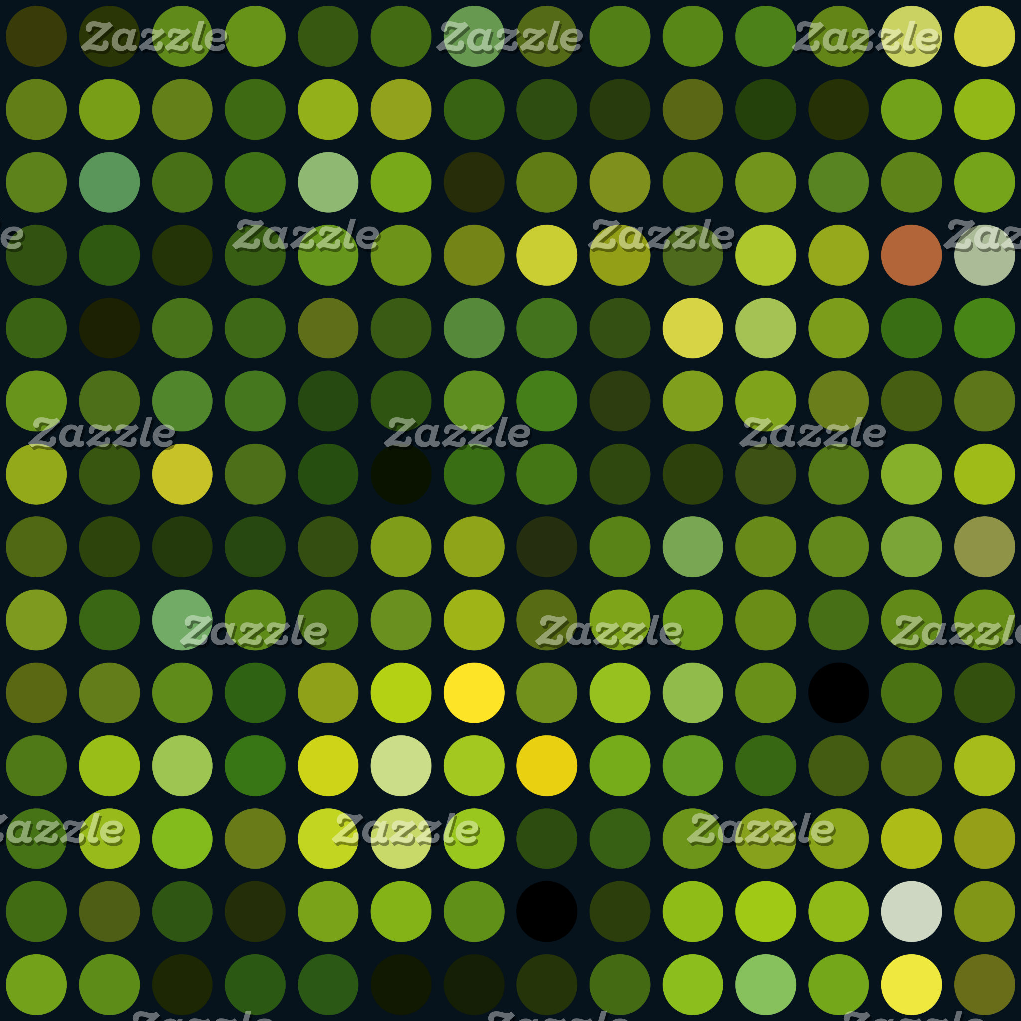 Geometric Patterns | Green Circles