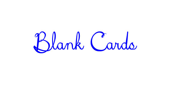 Blank Cards