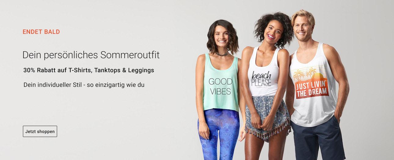 30% Rabatt auf T-Shirts, Tops und Leggings