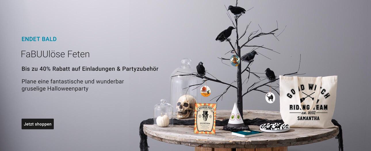40% Rabatt auf Partyartikel und Einladungen   Nutze den Code: PARTYFUN4U40