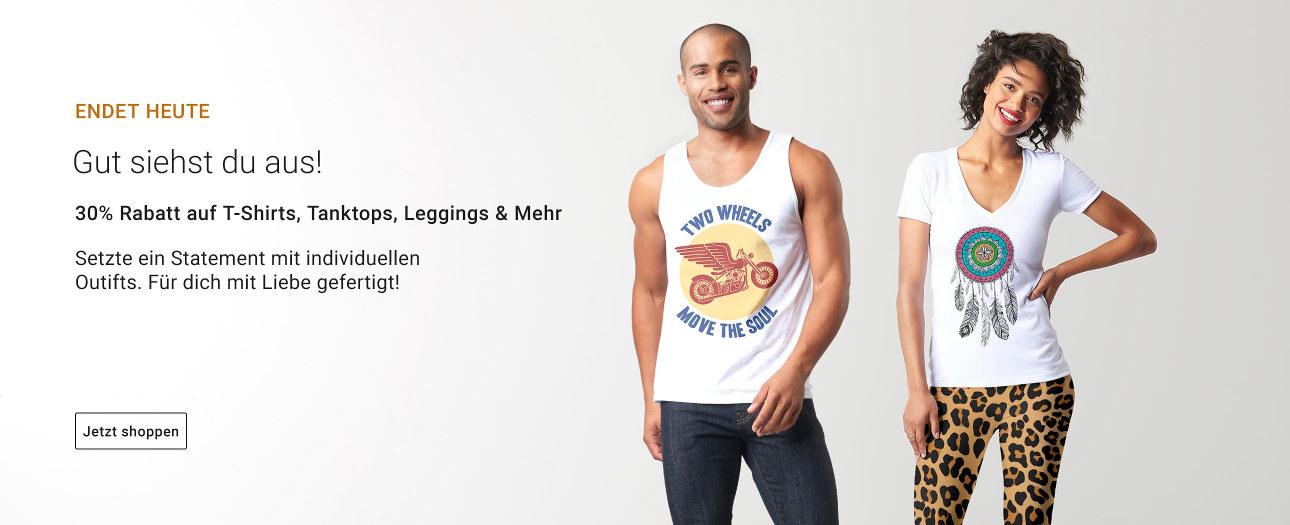 ENDET HEUTE! 30% Rabatt auf Kleidung!