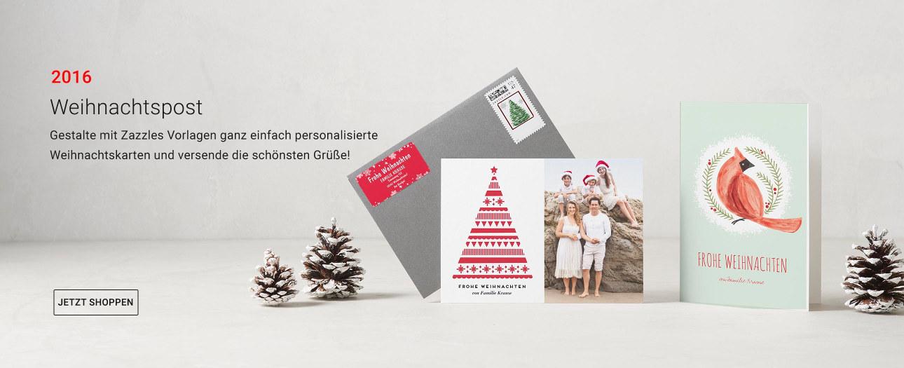 Weihnachtskarten auf Zazzle