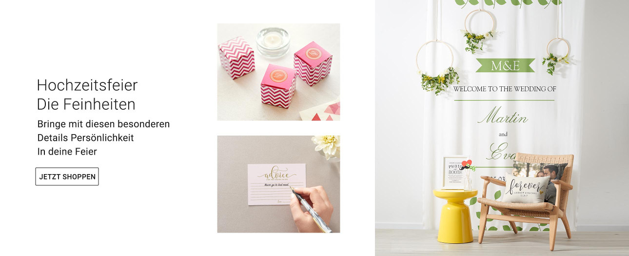 Alles für deine Hochzeitsfeier