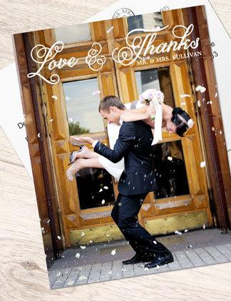 Gestalte Dankeskarten für Deine Lieben und personalisiere Sie mit Deinen Fotos und Texten.