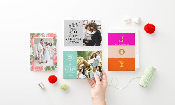 Personalisierbare Weihnachtskarten von Zazzle