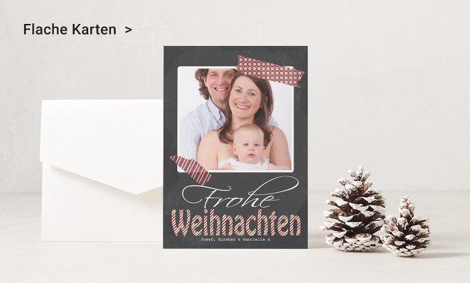 Flache Weihnachtskarten auf Zazzle Deutschland
