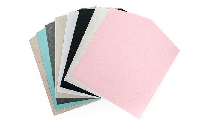 Viele Papierarten zur Auswahl