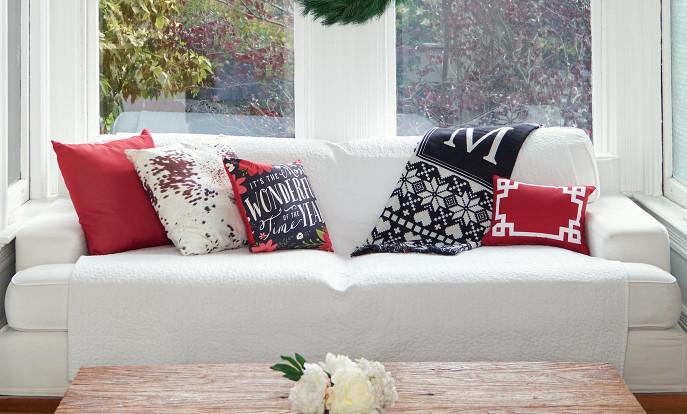 Hübsche Weihnachtskissen passend zu deiner Weihnachtsdekoration