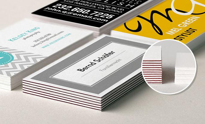 Stöber in Millionen von Vorlagen für Visitenkarten, verschiedene Motive, Designs, Größen und Papiersorten.