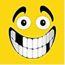 gelber zahnlos grinsen smiley runder magnet 5 7 cm zazzle. Black Bedroom Furniture Sets. Home Design Ideas