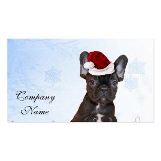 Weihnachtsfranzösische Bulldogge Visitenkarten