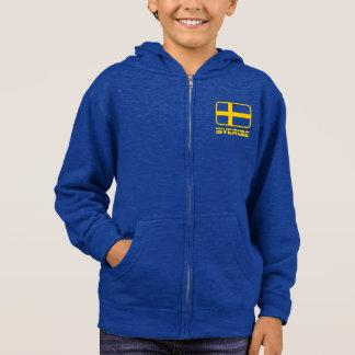 Sverige Flagge Hoodie