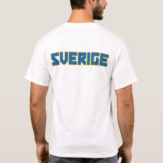 Sverige Schweden mutiger Text und T-Shirt