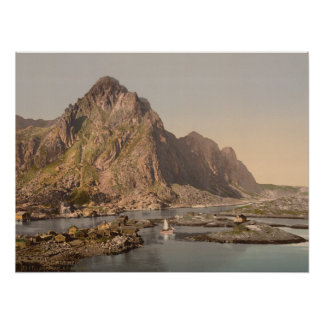 Svolvaer, Lofoten, Nord-Norge, Norwegen Plakat