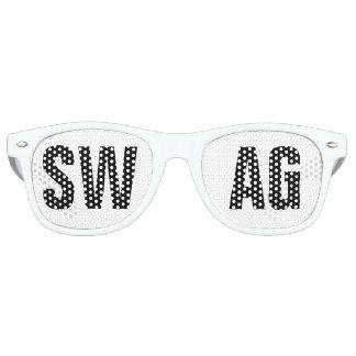 """""""SWAG"""" Schwarzweiss-Party Sonnenbrille"""