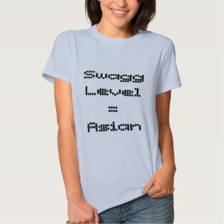 Swagg waagerecht ausgerichtete asiatische Dame T-Shirts