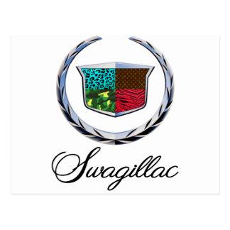 Swagillac - eine Swag-Parodie von Cadillac Postkarte