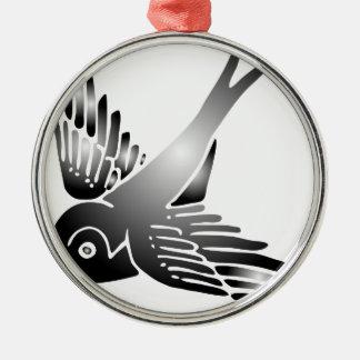 swallow schwalbe bird wings lark summer holiday silbernes ornament