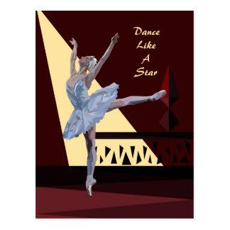 """Swan See-Ballerina"" Gewohnheit Postkarte"
