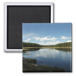 Swan See II an großartigem Teton Nationalpark Quadratischer Magnet